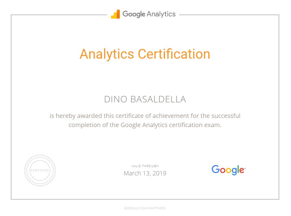 seoWest is Google Analytics certified.