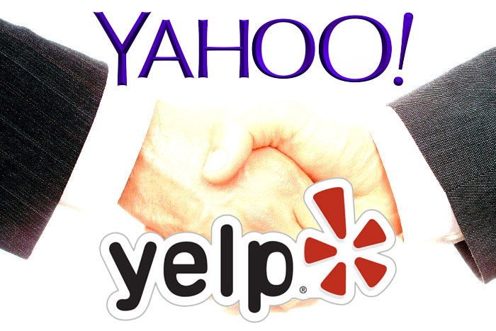 Yahoo and Yelp form an alliance.
